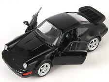 BLITZ VERSAND Porsche 964 Turbo schwarz / black Welly Modell Auto 1:34 NEU & OVP