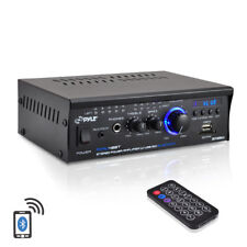 NEW Pyle PCAU48BT 2 x 120W Bluetooth Stereo Power Amplifier USB/SD AUX & Remote