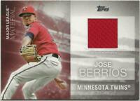 2020 Topps Series 1 JOSE BERRIOS Major League Material Relic Twins Jersey Red
