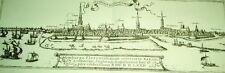 Hamburg 1590: Druck /Stich einer alten Ansicht (Merian)