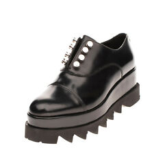 RRP€135 CULT Leather Oxford Shoes Mismatch L37 R38 Platfrom Cleated Sole Slip On