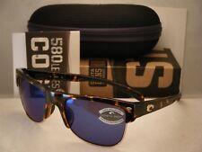 Costa Pawleys Retro Tortoise w Blue 580P lens NEW Sunglasses (PW66 OBMP)