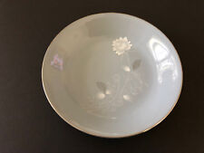 """Royal Heritage China Japan RHR6 White Rose & Leaves - 7-1/2"""" COUPE SOUP BOWL"""