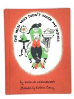The Man Who Didn't Wash His Dishes by Phyllis Krasilovsky 1950 Easy Reader