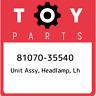 81070-35540 Toyota Unit assy, headlamp, lh 8107035540, New Genuine OEM Part