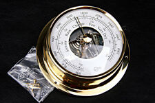 BARIGO Tempo S Polished Brass Barometer 70mm