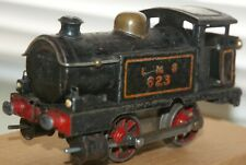 HORNBY O GAUGE  C/W No 1 TANK LOCO IN LMS BLACK LIVERY AND BOX 1920's