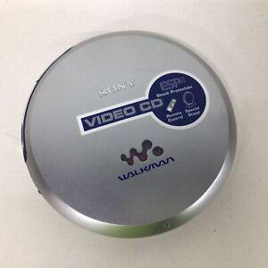 Retro Sony Video CD Walkman Silver AA Battery Operated #209