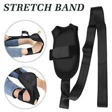 Yoga Pilates Leg Strap Ballet Ankle Ligament Stretch Therapy Belt Band Black