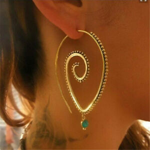 Fashion 925 Silver Big Earrings Women Turquoise Wedding Jewelry Gifts A Pair/set