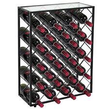 32 Bottle Wine Rack Storage Display Table Cork Storage Holder Metal Home Decor