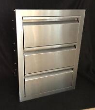 "Triple Drawer Outdoor Kitchen Bbq Island 304 Stainless Steel 19""W x 26""H"