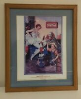 "Vintage1936 Coca Cola Limited Edition Poster Art Framed  Print  Signed 11"" x 14"""