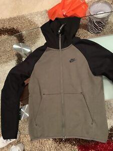 Nike Tech Fleece Hoodie Mens Twilight Marsh Black Size Medium 928483-381