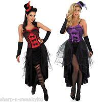 Ladies Burlesque Showgirl & Mini Hat Fancy Dress Costume Outfit 6-22 Plus Size