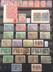 Nyasaland Protectorate. 1908-38. Range Of Mint And Used On Page. Block Is Mnh.