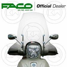 Faco 23098 Parabrezza con Attachi per Piaggio Beverly RST, Sport, Touring, 125