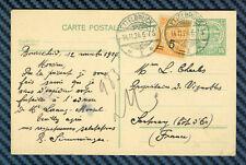 -= LUXEMBOURG - Entier postal d'ETTELBRUCK pour SANTENAY (Côte-d'Or) - 1924 =-