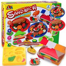 Kids Gift Play Dough Mold Set Healthy Sandwich Mode Soft Clay Plasticine Toys