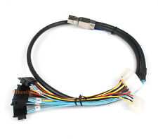 Mini SAS SFF-8644 to 4X SFF-8482 Internal HD Cable with SATA Power 1M//3ft