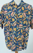 Vintage Reyn Spooner Joe Kealoha's Size XL Mens HAVANA MAMBO Hawaiian Shirt