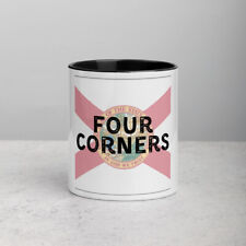 New listing Four Corners Florida State Flag Background Coffee Mug with Color Inside