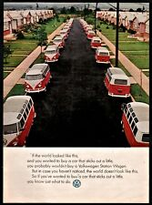 1964 VOLKSWAGEN VW Station Wagon Vans line the street Photo AD