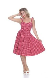 Bettie Page Albuquerque Dress - Red/White Dots