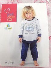 Schlafanzug Primero Kleines Mädchen Baumwolle Di Jersey TG.24 Monaten Grau E