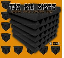 48? The BIG 60 pack grey Acoustic Wedge studio Foam tiles 12x12x2 soundproofing