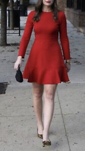 BOUTIQUE MOSCHINO Red Dress IT38 S Sexy Autumn Winter NYC 🤡💄sexy