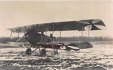 Jagdflugzeug Aviatik - Doppeldecker W. Sanke Foto Postkarte