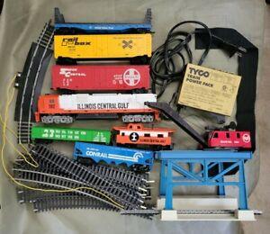 TYCO HO Trains Lot Illinois Central Gulf 1102 Santa Fe United States Steel Crane