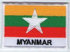 écusson ECUSSON PATCHE PATCH THERMOCOLLANT DRAPEAU MYANMAR BIRMANIE D. 7 X 5 CM