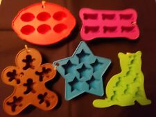 Silicone Ice mold Gingerbread Man Stars Bones Cat Football Arts Crafts Free Ship