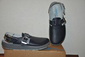 Abeba  Arbeitsschuhe Berufsschuhe Clog d.blau Gr.44 Leder rubber Art.9150 NEU!!!