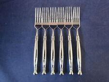 Set Of Six - Oneida Stainless Flatware Adelphia Dinner Forks Usa