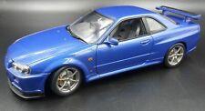 AUTOart Bayside Blue Nissan Skyline R34 GTR. 1/18th Scale. Stunning!!! FREE P&P