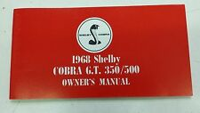 1968 Ford Mustang SHELBY - Shelby Owners Manual - EXACT Reproduction!