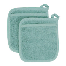 Royale Potholders Collection 100% Cotton Terry Cloth Pocket Mitt Set, Hot Pad