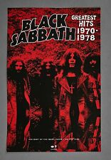 Black Sabbath Greatest Hits 1970-1978 Promo Poster Best Of Ozzy Years