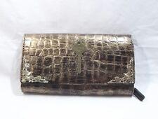 Steampunk Vintage style CUSTOMISED large gold & black pvc womans purse FREE P&P