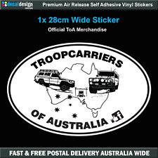 Troopcarriers of Australia Large Oval Two Troopy's Decal Sticker #TOA021