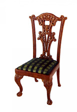 Dolls House Walnut Orleans Side Chair Platinum Collection Dining Room Furniture