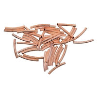 50x Rose Gold Copper Long Curved Smooth Tube Spacer Bead DIY Jewelry Making