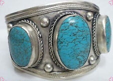 China tibet Silver Cuff Turquoise bracelet