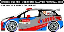 DECALS 1/43 CITROËN DS3 RRC #74 - KUBICA - RALLYE PORTUGAL 2013 - MF-ZONE D43202