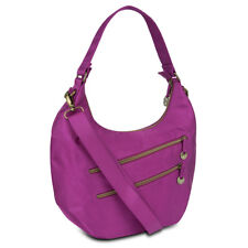 Travelon Hack-Proof Convertible Hobo Bag Purse with RFID Protection - Magenta