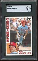 1984 Topps #206 Andy Van Slyke RC SGC 9 = PSA 9? MINT Cardinals Graded Card