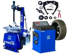 New 15 Hp Tire Changer Wheel Balancer Machine Combo Rim Clamp 580 680